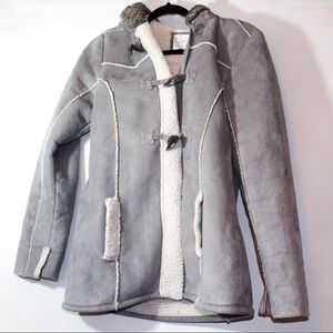 Justice grey coat with hood